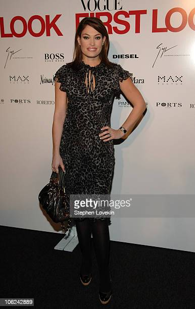 Kimberly Guilfoyle Villenci during MercedesBenz Fashion Week Fall 2007 Vogue First Look Arrivals and Inside at Phillips de Pury Gallery in New York...