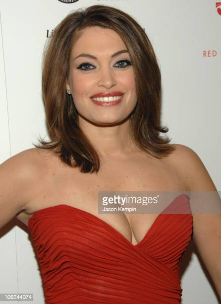 Kimberly Guilfoyle wearing Nicole Miller during MercedesBenz Fashion Week Fall 2007 Heart Truth Red Dress Arrivals in New York City New York United...