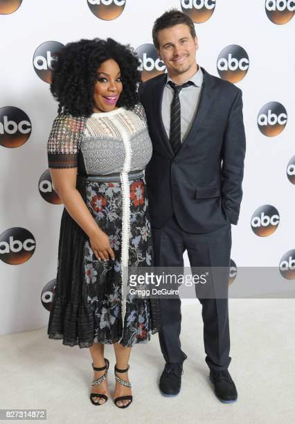 Kimberly Hebert Gregory and Jason Ritter arrive at the 2017 Summer TCA Tour Disney ABC Television Group at The Beverly Hilton Hotel on August 6 2017...