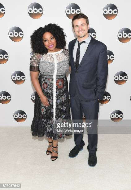 Kimberly Hebert Gregory and Jason Ritter attend the 2017 Summer TCA Tour Disney ABC Television Group at The Beverly Hilton Hotel on August 6 2017 in...