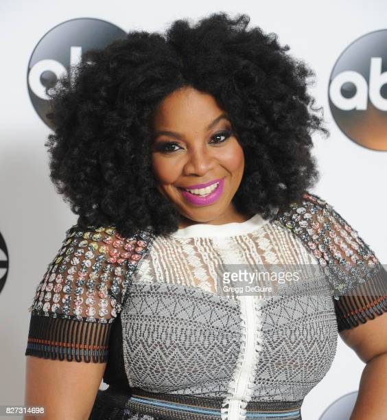 Kimberly Hebert Gregory arrives at the 2017 Summer TCA Tour Disney ABC Television Group at The Beverly Hilton Hotel on August 6 2017 in Beverly Hills...