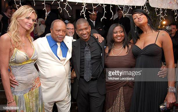 Kimberly Hefner Quincy Jones Usher Usher's mother Janetta Patton and Usher's girlfriend Eishia Brightwell