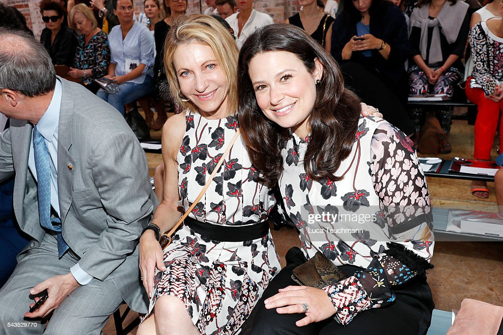 Kimberly Marteau Emerson and <a gi-track='captionPersonalityLinkClicked' href=/galleries/search?phrase=Katie+Lowes&family=editorial&specificpeople=5527804 ng-click='$event.stopPropagation()'>Katie Lowes</a> attend the Dorothee Schumacher show during the Mercedes-Benz Fashion Week Berlin Spring/Summer 2017 at Elisabethkirche on June 29, 2016 in Berlin, Germany.