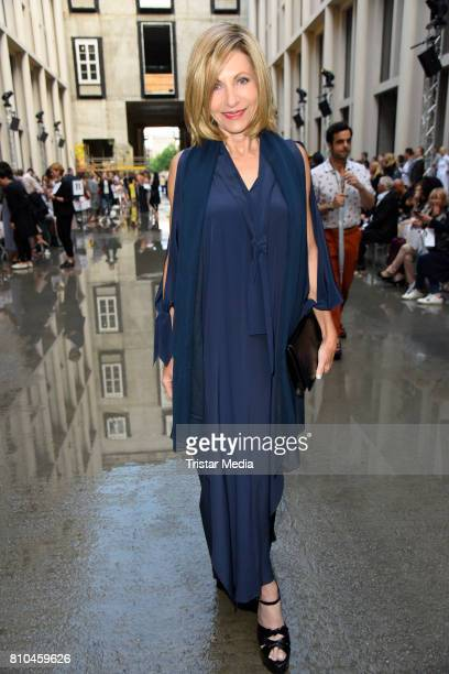 Kimberly Marteau Emerson attends the Marina Hoermanseder show during the Berliner Mode Salon Spring/Summer 2018 at Kronprinzenpalais on July 7 2017...