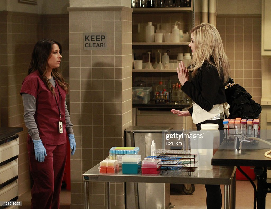 HOSPITAL - Kimberly McCullough (Robin) and Jen Lilley (Maxie) in a scene that airs the week of February 20, 2012 on ABC Daytime's 'General Hospital.' 'General Hospital' airs Monday-Friday (3:00 p.m. - 4:00 p.m., ET) on the ABC Television Network. GH12 KIMBERLY