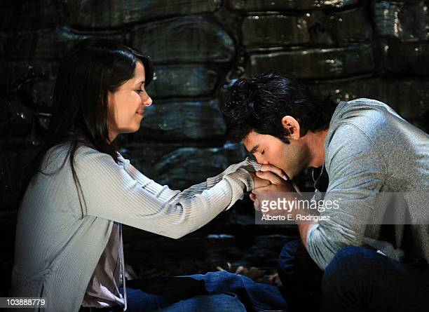 Kimberly McCullough and Michael Sutton in a scene that airs the week of September 27 2010 on ABC's GENERAL HOSPITAL