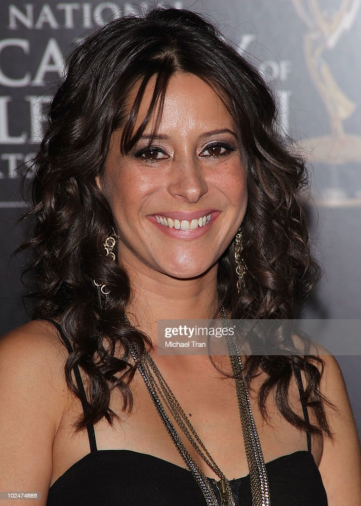 <a gi-track='captionPersonalityLinkClicked' href=/galleries/search?phrase=Kimberly+McCullough&family=editorial&specificpeople=663618 ng-click='$event.stopPropagation()'>Kimberly McCullough</a> arrives to the 37th Annual Daytime Emmy Awards held at the Las Vegas Hilton on June 27, 2010 in Las Vegas, Nevada.