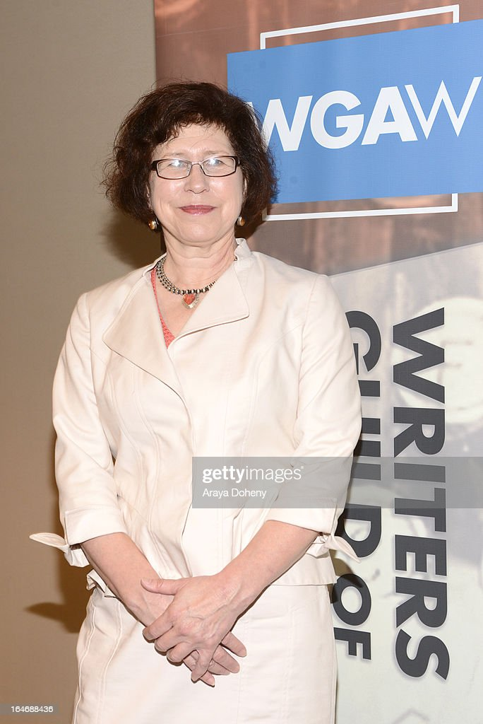 Kimberly Myers attends the WGAW's 2013 TV Staffing Brief - Press Conference on March 26, 2013 in Los Angeles, California.