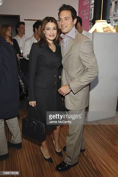 Kimberly Newsom and Eric Villency during Prada Celebrates The Opening of The 'Waist Down Skirts by Miuccia Prada' Exhibition Arrivals at Prada Soho...