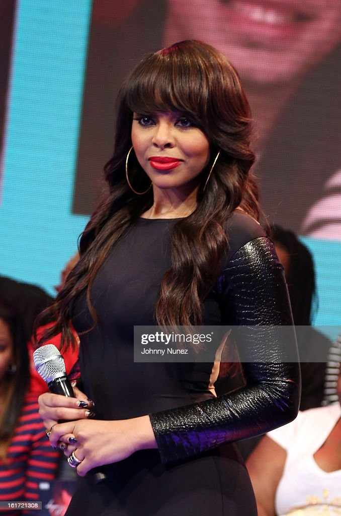 Kimberly 'Paigion' Walker hosts BET's '106 & Park' at BET Studios on February 14, 2013 in New York City.