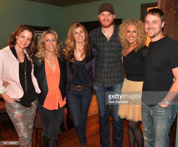 Kimberly Paisley Sheryl Crow Connie Britton Singer/Songwriter Eric Paslay Kimberly Schlapman and BeBo Norman Recording Artist backstage at 'An...