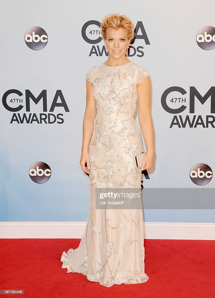 Kimberly Perry of The Band Perry attends the 47th annual CMA Awards at the Bridgestone Arena on November 6, 2013 in Nashville, Tennessee.