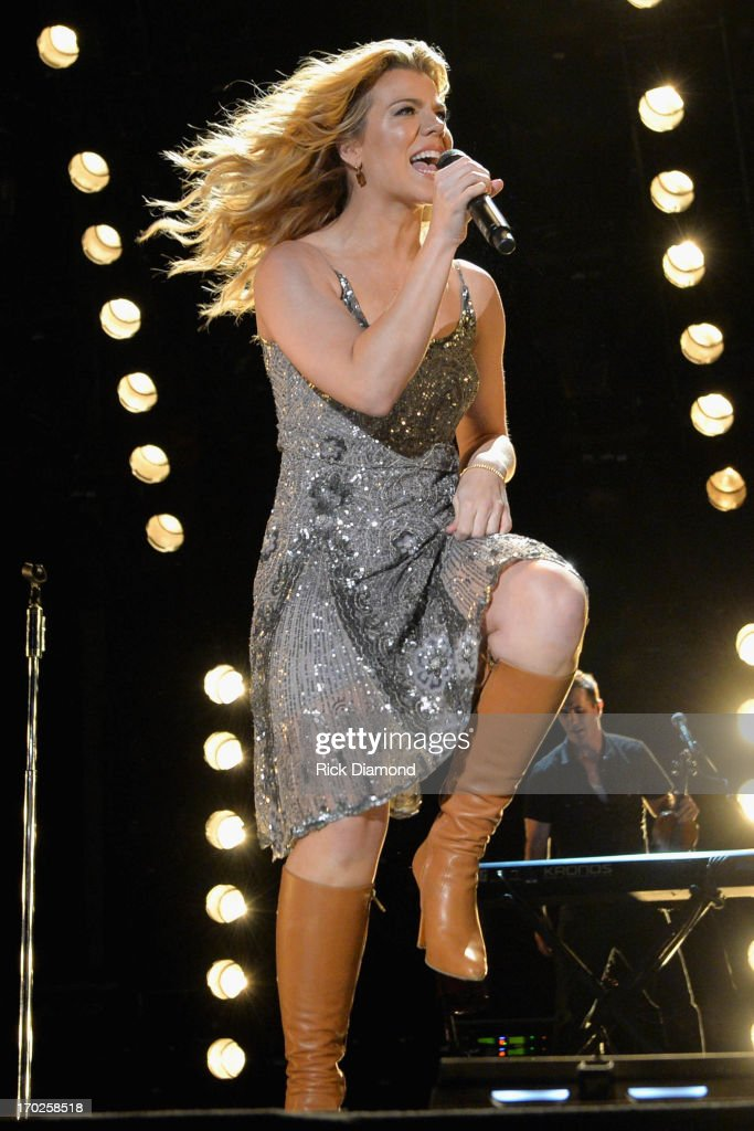 Kimberly Perry of The Band Perry performs during the 2013 CMA Music Festival on June 9, 2013 in Nashville, Tennessee.