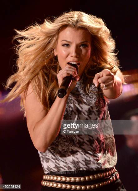 Kimberly Perry of The Band Perry performs during the 2014 CMA Festival at LP Field on June 6 2014 in Nashville Tennessee