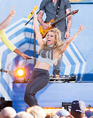 Kimberly Perry of The Band Perry performs on ABC's 'Good Morning America' at Rumsey Playfield Central Park on August 14 2015 in New York City