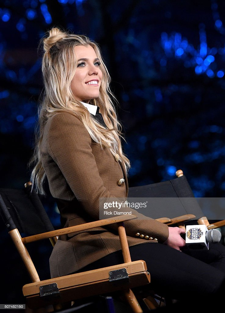 Kimberly Perry of The Band Perry speaks onstage during NHL AllStar Winter Park Nashville 2016 Day 2 on January 29 2016 in Nashville Tennessee
