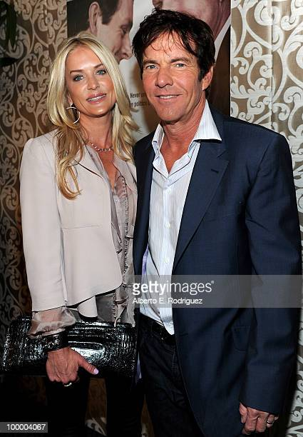 Kimberly Quaid and actor Dennis Quaid arrive at the Los Angeles premiere of HBO Films' 'The Special Relationship' at the DGA Theater on May 19 2010...