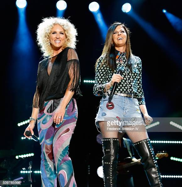 Kimberly Schlapman and Karen Fairchild of Little Big Town performs at the CMA Fest at Nissan Stadium on June 12 2016 in Nashville Tennessee