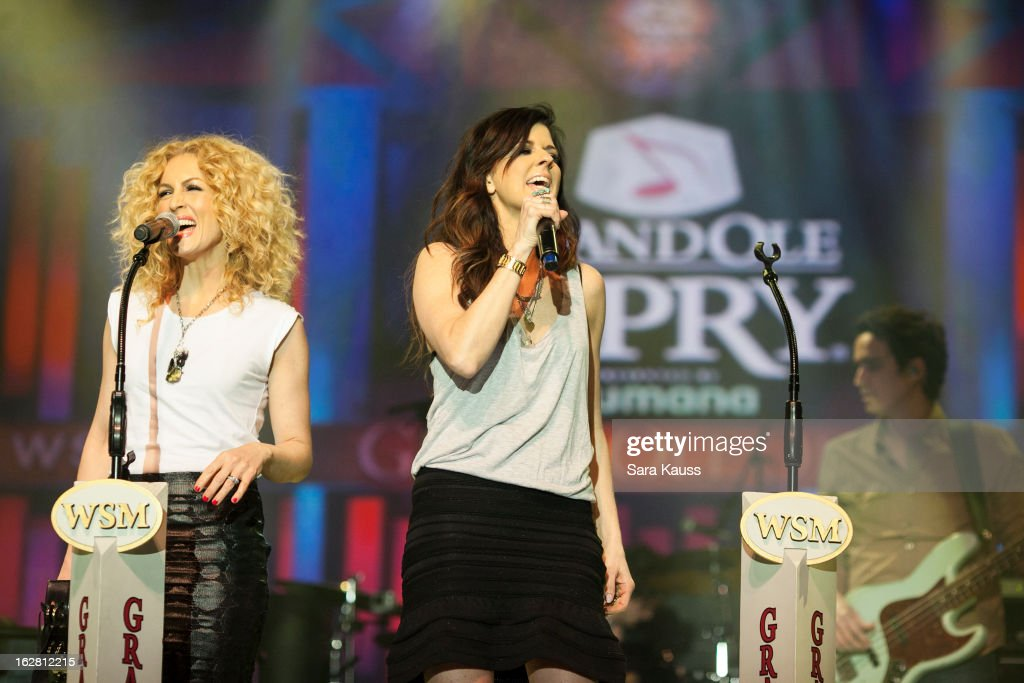 Kimberly Schlapman and Karen Fairchild perform onstage during CRS 2013 on February 27, 2013 at the Grand Ole Opry in Nashville, Tennessee.