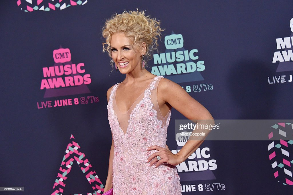 Kimberly Schlapman from musical group Little Big Town attends the 2016 CMT Music awards at the Bridgestone Arena on June 8 2016 in Nashville Tennessee