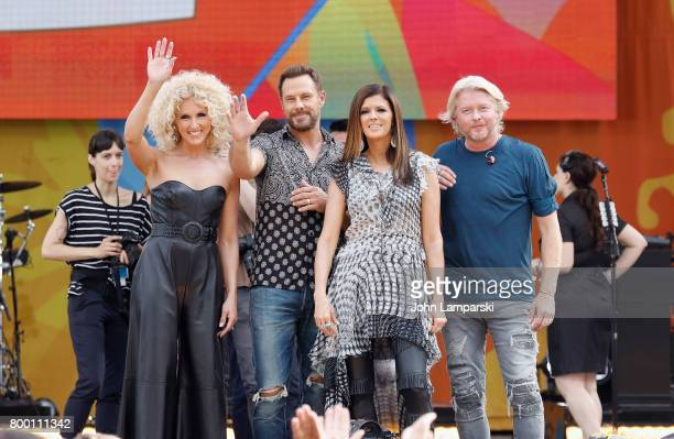 Kimberly Schlapman Jimi Westbrook Karen Fairchild and Philip Sweet of Little BigTown band perform at Rumsey Playfield Central Park on June 23 2017 in...