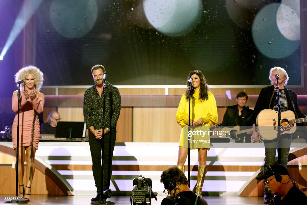 Kimberly Schlapman, Jimi Westbrook, Karen Fairchild, and Phillip Sweet of Little Big Town perform onstage during the 11th Annual ACM Honors at the Ryman Auditorium on August 23, 2017 in Nashville, Tennessee.