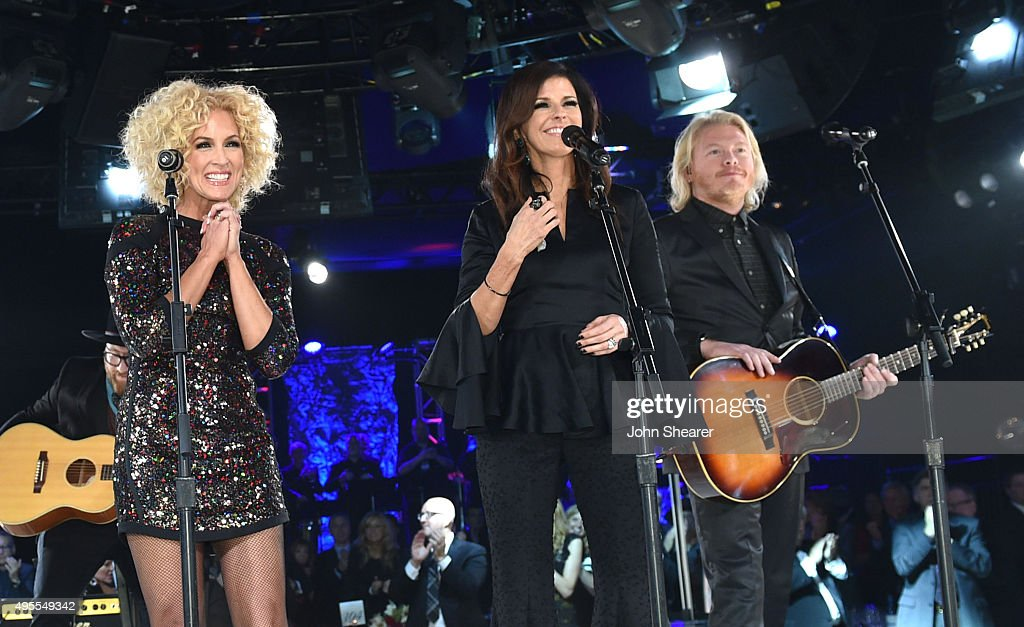 Kimberly Schlapman Karen Fairchild and Phillip Sweet of Little Big Town perform onstage during the BMI 2015 Country Awards at BMI on November 3 2015...