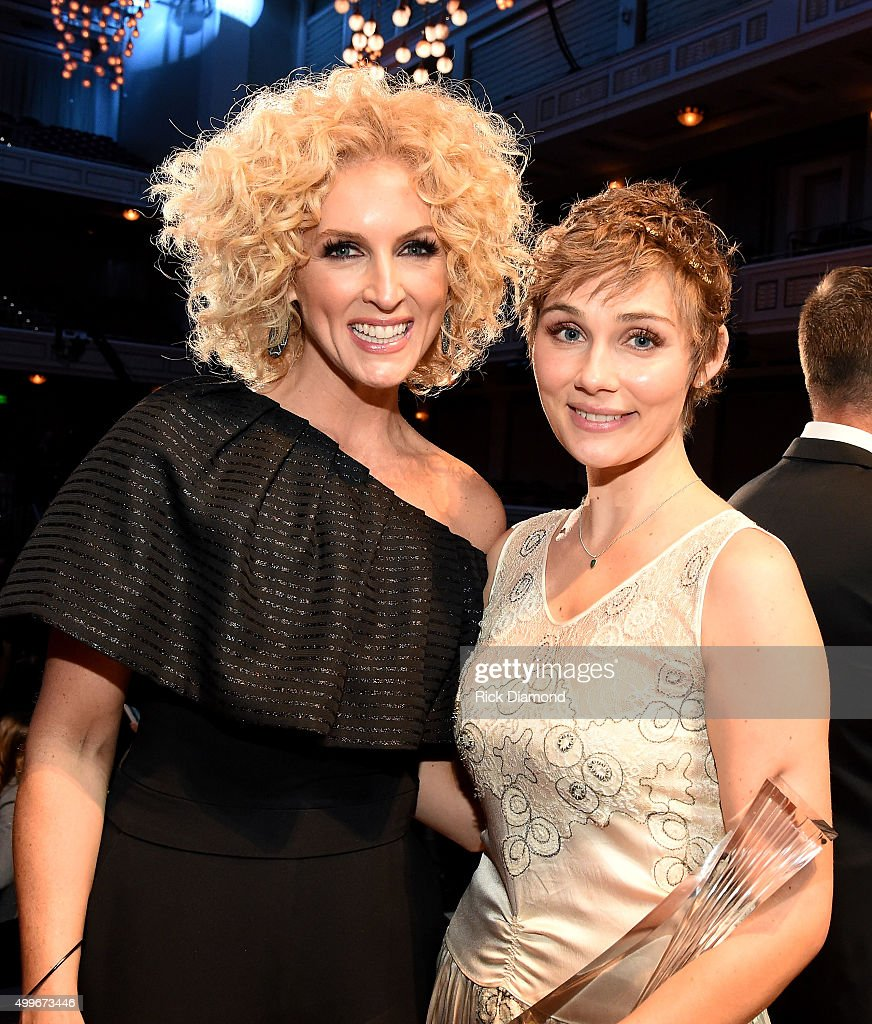Kimberly Schlapman of Little Big Town and actress Clare Bowen attend the 2015 'CMT Artists of the Year' at Schermerhorn Symphony Center on December 2...