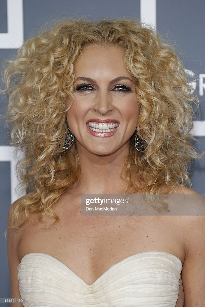 Kimberly Schlapman of 'Little Big Town' arrives at the 55th Annual Grammy Awards at the Staples Center on February 10, 2013 in Los Angeles, California.