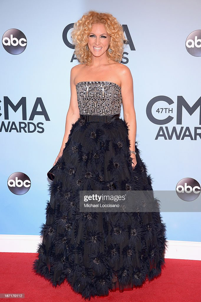 Kimberly Schlapman of Little Big Town attends the 47th annual CMA Awards at the Bridgestone Arena on November 6, 2013 in Nashville, Tennessee.