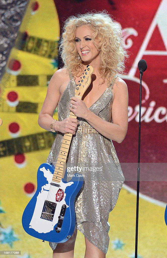 Kimberly Schlapman of Little Big Town onstage during the 2012 American Country Awards at the Mandalay Bay Events Center on December 10, 2012 in Las Vegas, Nevada.