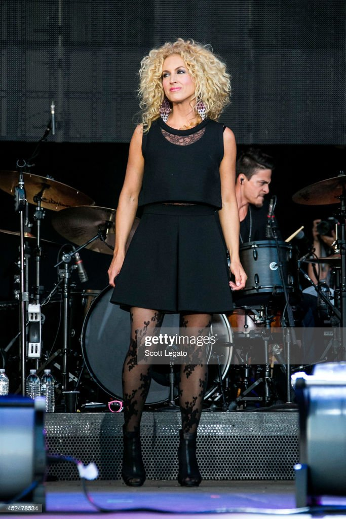 Kimberly Schlapman of Little Big Town performs during day 3 of the Faster Horses Festival at Michigan International Speedway on July 20 2014 in...