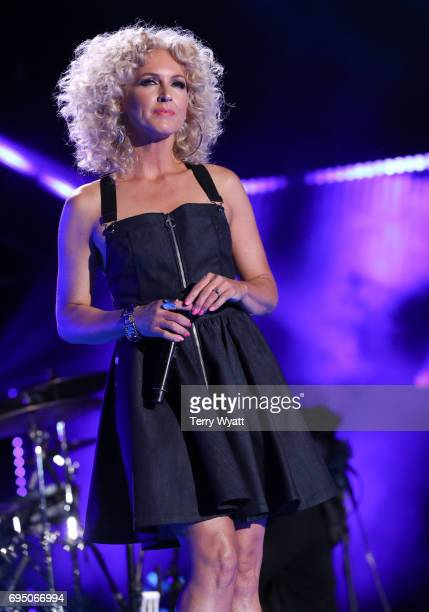 Kimberly Schlapman of Little Big Town performs during day 4 of the 2017 CMA Music Festival on June 11 2017 in Nashville Tennessee