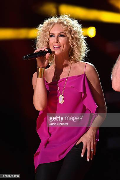 Kimberly Schlapman of Little Big Town performs onstage during the 2015 CMA Festival on June 12 2015 in Nashville Tennessee