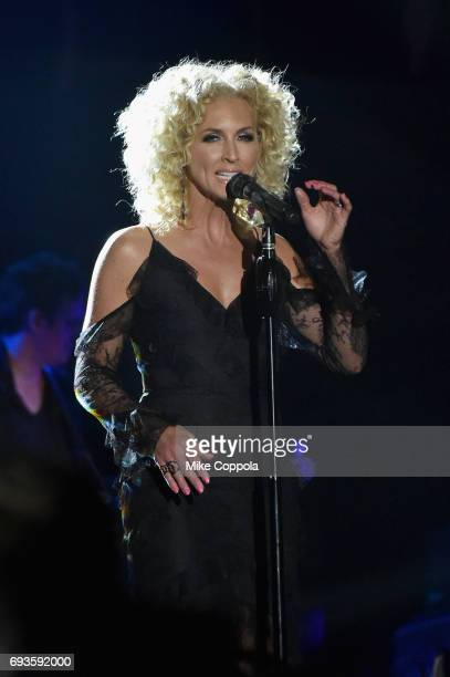 Kimberly Schlapman of Little Big Town performs onstage during the 2017 CMT Music Awards at the Music City Center on June 6 2017 in Nashville Tennessee