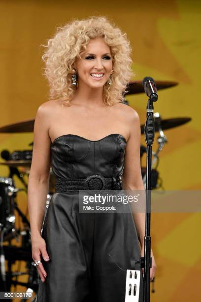 Kimberly Schlapman of Little Big Town performs onstage on ABC's 'Good Morning America' at Rumsey Playfield Central Park on June 23 2017 in New York...