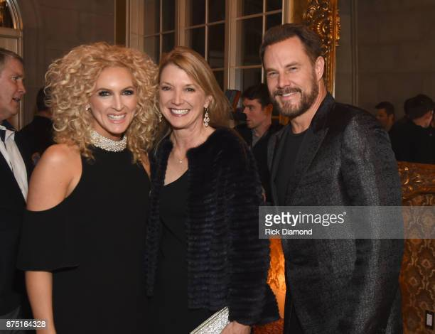 Kimberly Schlapman of Little Big Town Tracey Frist and Jimi Westbrook of Little Big Town attend ACM Lifting Lives featuring Little Big Town hosted...