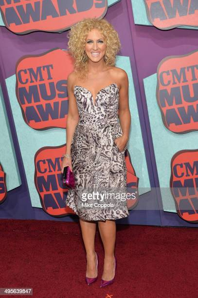 Kimberly Schlapman of the band 'Little Big Town attends the 2014 CMT Music awards at the Bridgestone Arena on June 4 2014 in Nashville Tennessee