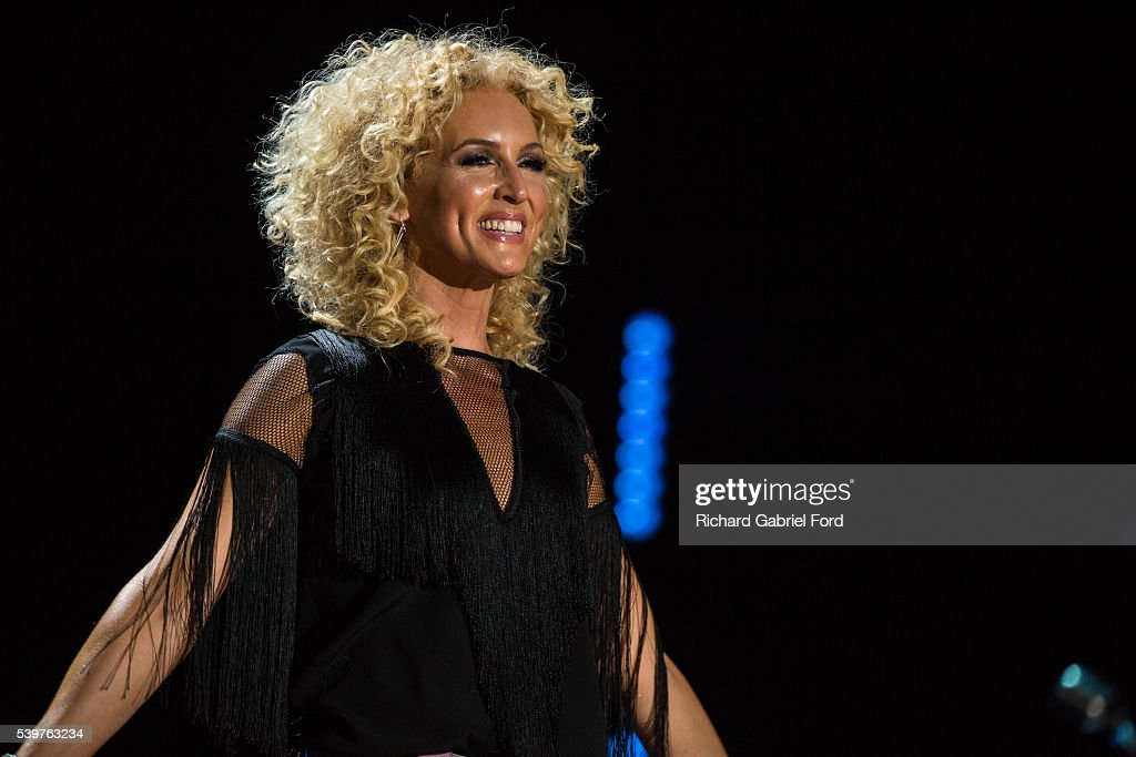 Kimberly Schlapman of the band Little Big Town performs during the 2016 CMA Music Festival at Nissan Stadium on June 12 2016 in Nashville Tennessee