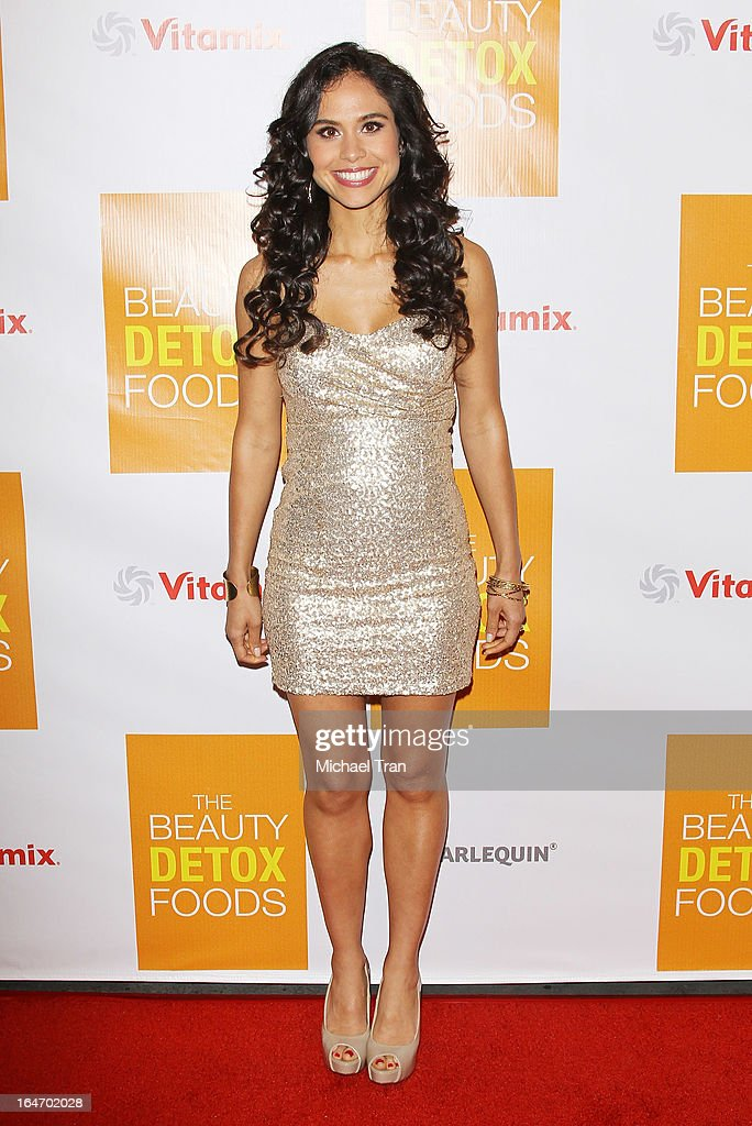 Kimberly Snyder arrives at her book launch party for 'The Beauty Detox Foods' held at Smashbox West Hollywood on March 26, 2013 in West Hollywood, California.