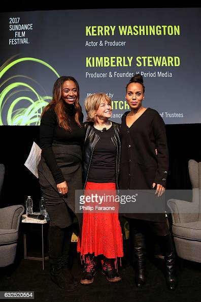 Kimberly Steward Pat Mitchell and Kerry Washington attend the 2017 Women at Sundance Brunch cohosted by Refinery29 DOVE Chocolate and the Sundance...