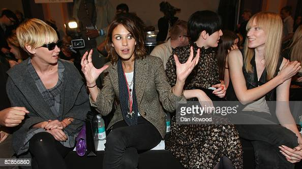 Kimberly Stewart Alexa Chung Erin O'Connor and Jade Parfitt attend the House of Holland Spring/Summer 2009 collection at Bloomsbury Ballroom during...