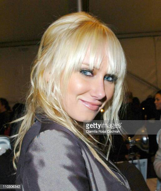 Kimberly Stewart during MercedesBenz Fashion Week Fall 2007 Heatherette Front Row and Backstage at The Tent Bryant Park in New York City New York...