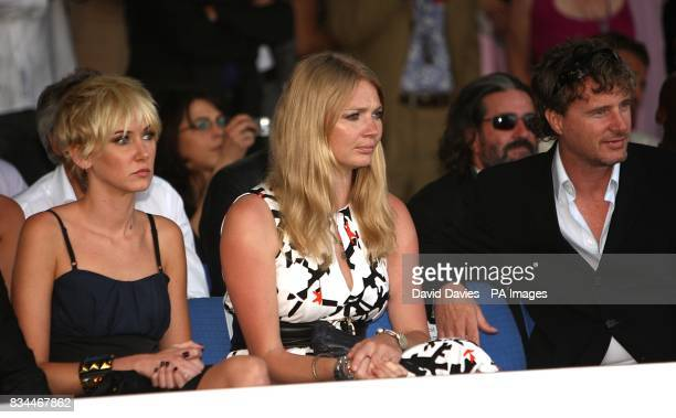 Kimberly Stewart Jodie Kidd and Eddie Irvine at the Grand Prix and Fashion Unite at The Amber Lounge Le Meridien Beach Plaza Hotel Monaco