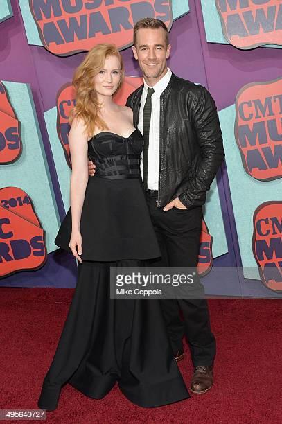 Kimberly Van Der Beek and James Van Der Beek attend the 2014 CMT Music awards at the Bridgestone Arena on June 4 2014 in Nashville Tennessee