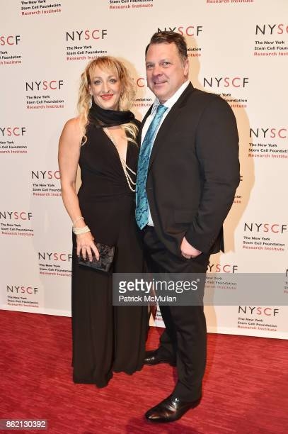 Kimberly Van Deventer and Stephen Van Deventer attend the NYSCF Gala Science Fair at Jazz at Lincoln Center on October 16 2017 in New York City