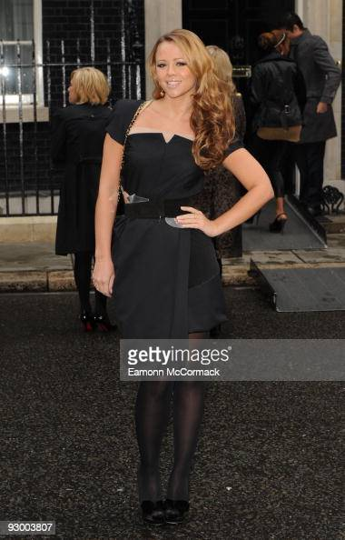 Kimberly Walsh attends a breakfast reception hosted by Sarah Brown for the winners of Cosmopolitan's Women Of The Year Awards at Downing Street on...