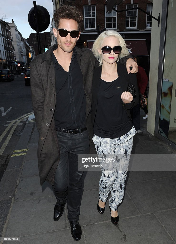 Kimberly Waytt and Max Rogers sighting on May 13, 2013 in London, England.