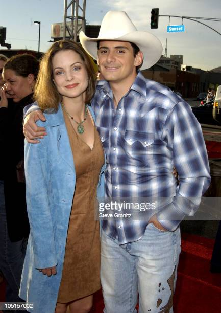 Kimberly Williams and Brad Paisley during 'Open Range' Premiere at El Capitan in Hollywood California United States