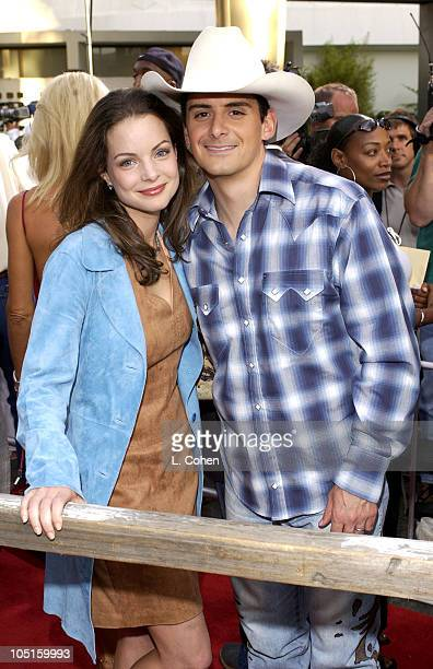 Kimberly Williams and Brad Paisley during 'Open Range' Premiere Red Carpet at Arclight Cinerama Dome in Los Angeles California United States